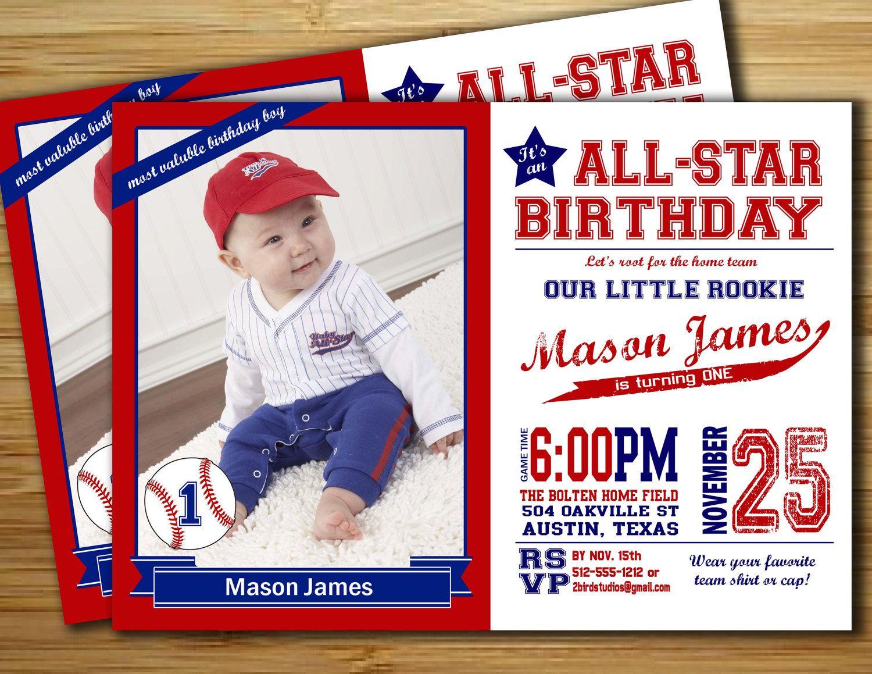 Baseball invitation / Baseball Birthday Party Invitation / Vintage ...