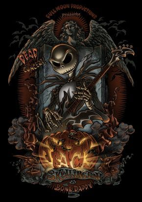 Jack Skellington And The Bone Daddy 5 By Pedro Astudillo Nightmare Before Christmas Tattoo Nightmare Before Christmas Wallpaper Nightmare Before Christmas