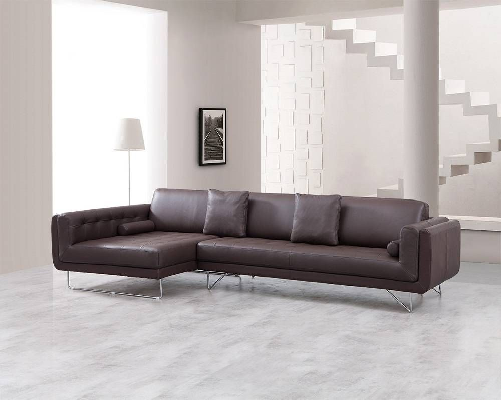 Medium Firm Padded Sectional Sofa In Espresso Italian Leather. Room For  Relaxation. Whether Stretching Out Alone Or With Friends And Family, This  Sectional ...
