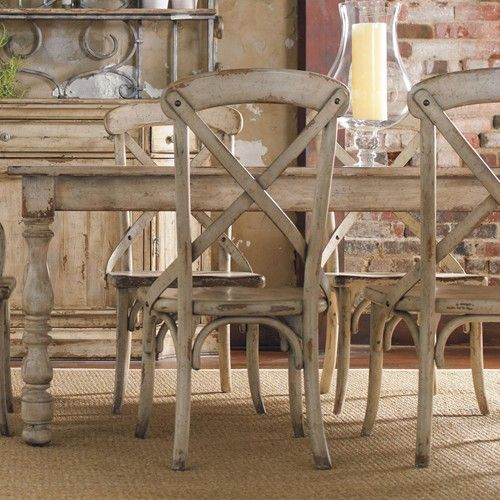 Wakefield Rectangular Leg Dining Table With Two Tone Distressed Finish By Hooker Furniture