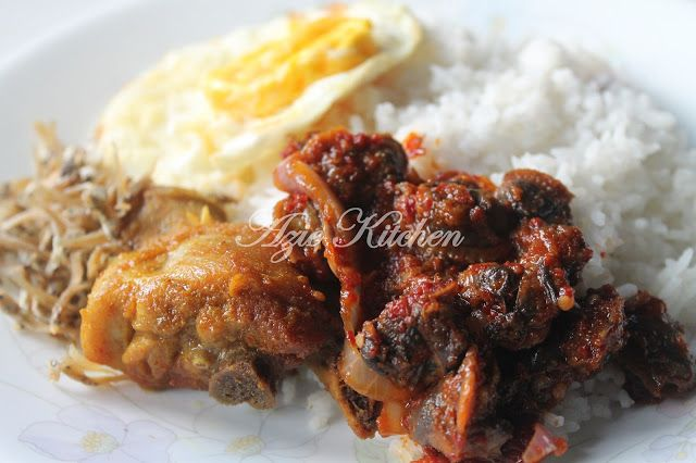 Azie Kitchen Nasi Lemak With Sambal Kerang Masakan