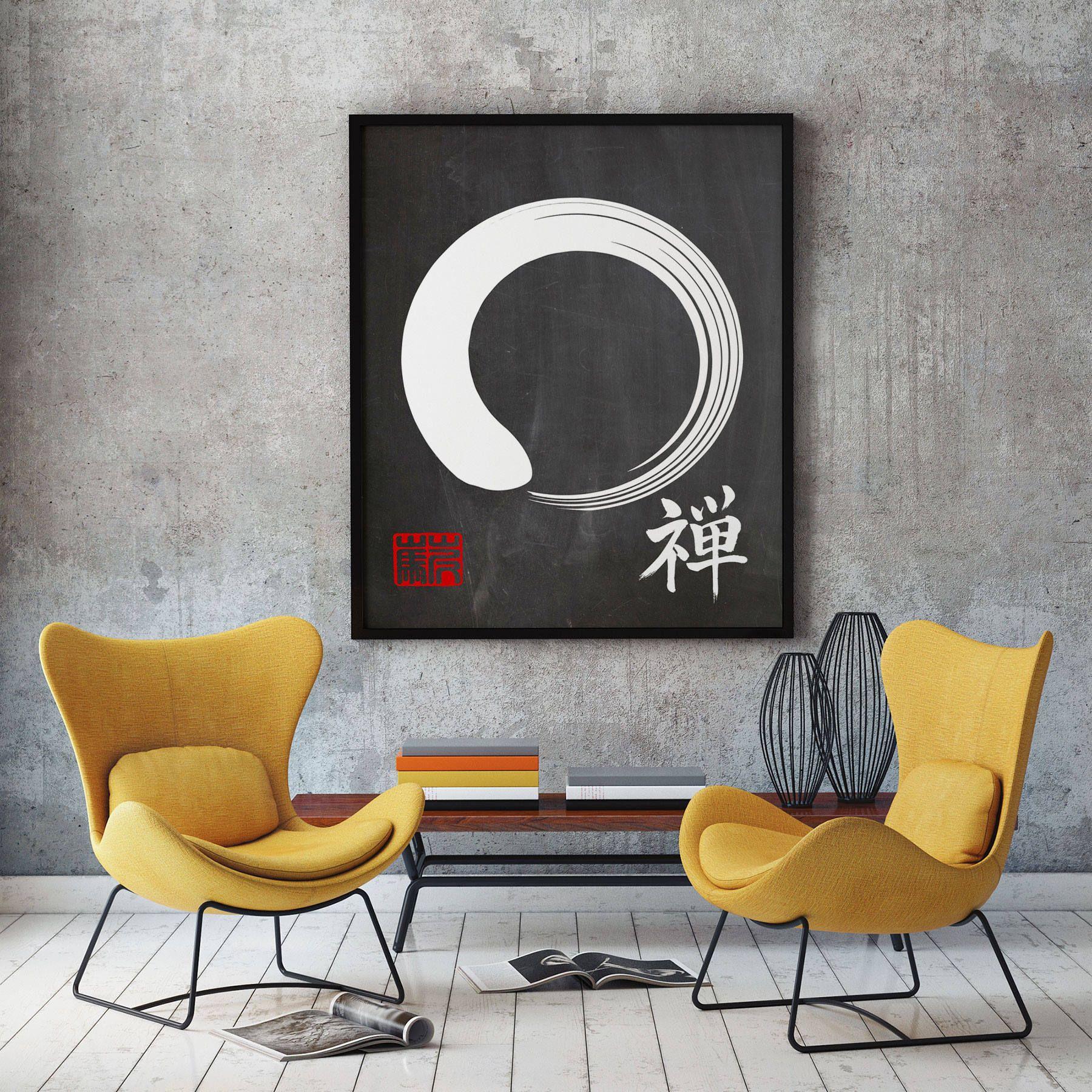 Enso Poster Zen Poster Enso Wall Art Japanese Calligraphy Art Etsy Calligraphy Art Japanese Calligraphy Art Zen Wall Art