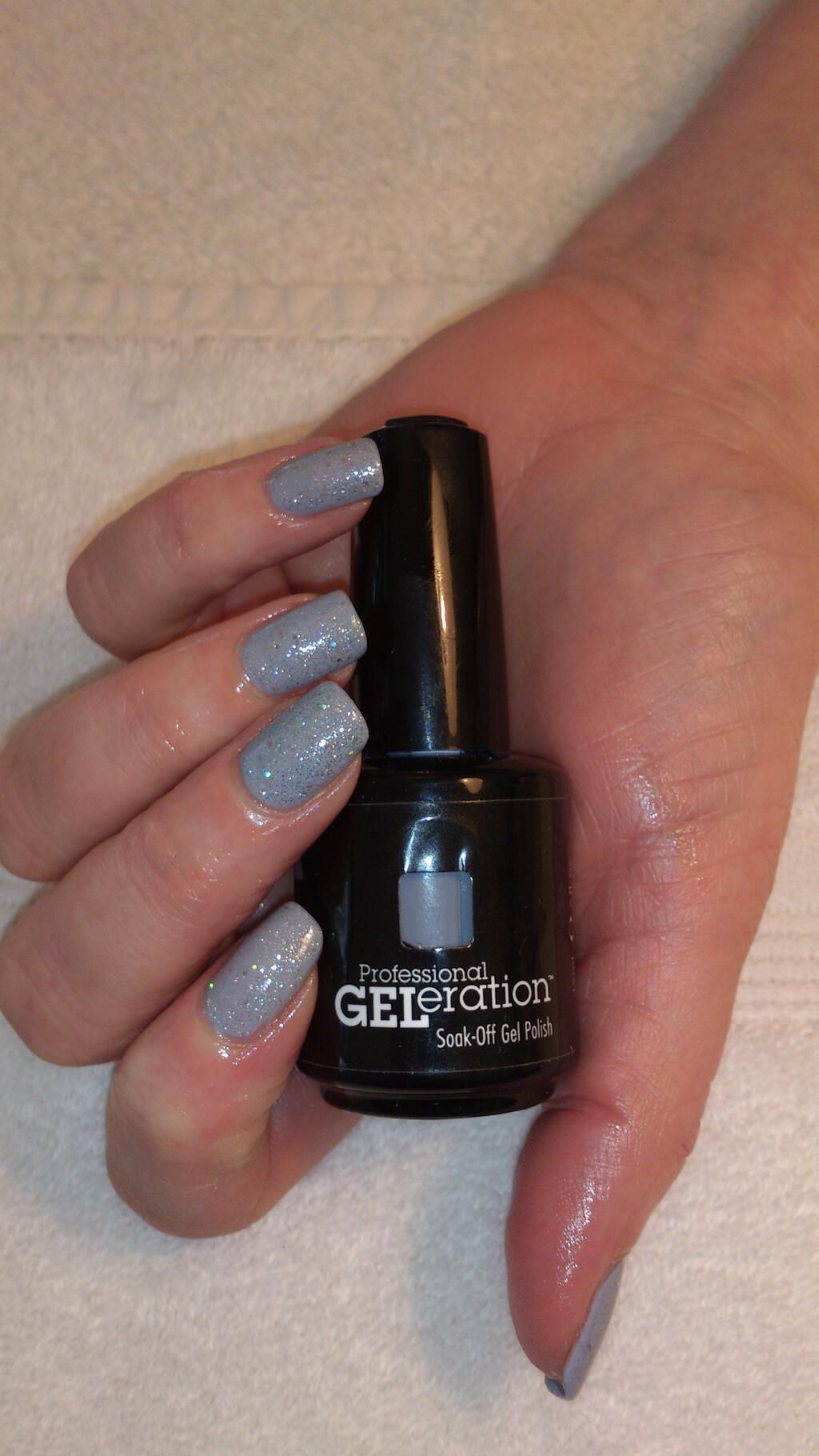 Popular fashion nails uxbridge - Jessica Geleration Sky High With Wedding Band Glitter On Top Created By The Tanning Bar