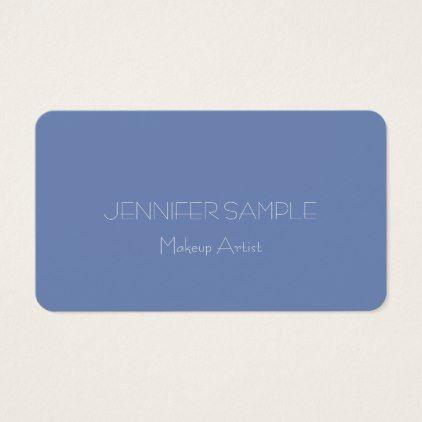 Beauty salon makeup artist elegant professional business card colourmoves