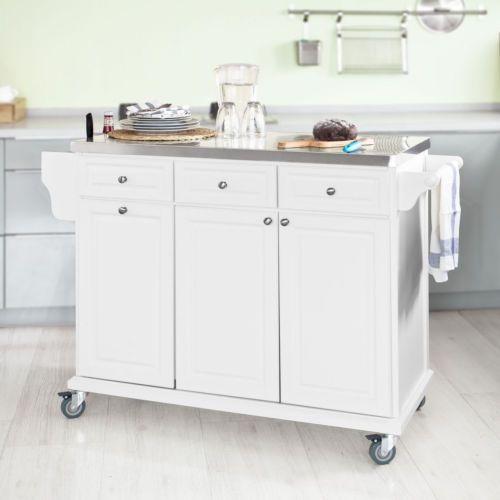 Kitchen Storage And Work Area: SoBuy Küchenwagen Mit Edelstahltop,Küchenschrank,Rollwagen