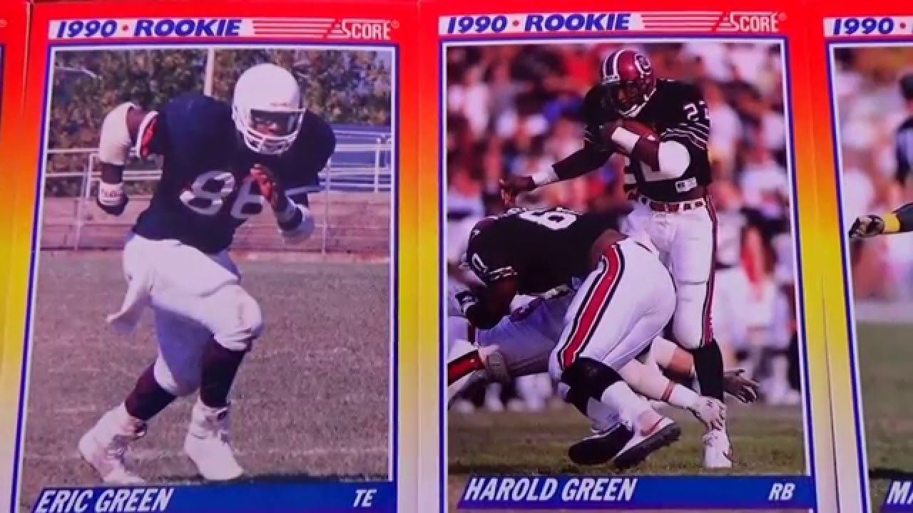 Nfl Score 1990 Rookie Football Cards Part 2 Videos