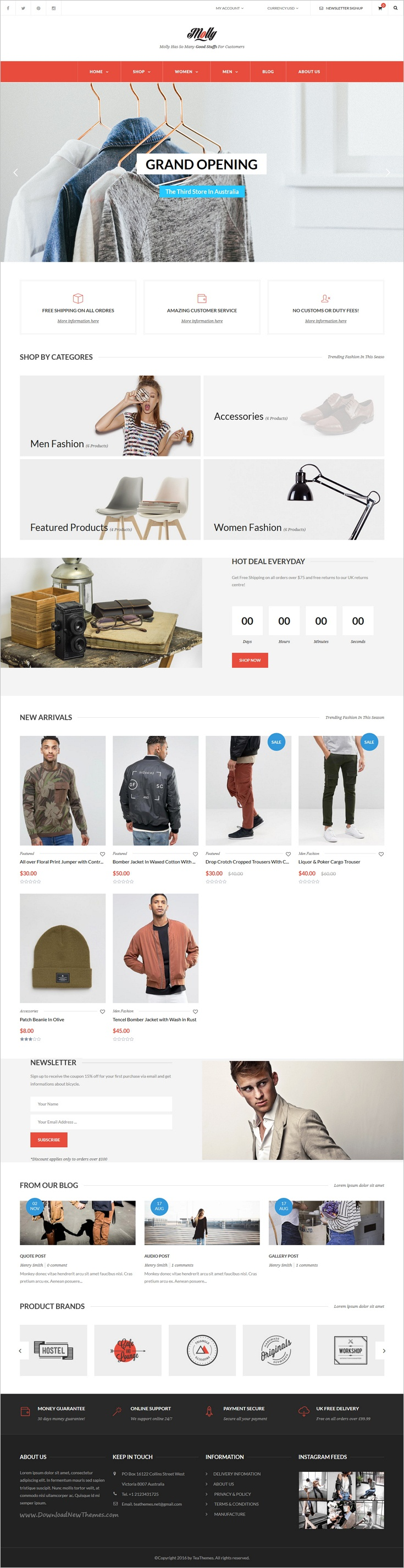 Molly is a modern and clean design awesome #Shopify theme for #webmaster multipurpose #eCommerce website with 18+ unique homepage layouts download now➩ https://themeforest.net/item/molly-multipurpose-responsive-shopify-themes/18974581?ref=Datasata