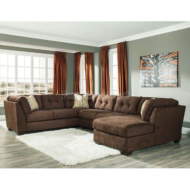 Great American Furniture Store Mesa Az: Delta City Chocolate Sectional
