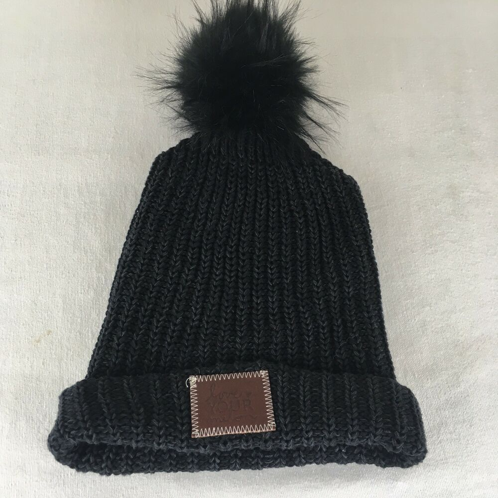 Love Your Melon BrownLabel With Black Pom Beanie Knit  fashion  clothing   shoes  accessories  unisexclothingshoesaccs  unisexaccessories (ebay link) 7e039ad32c7