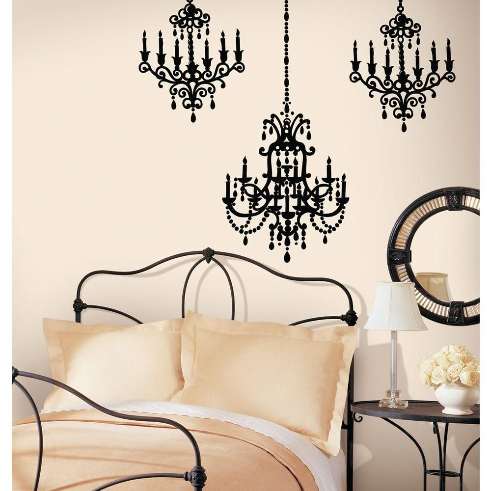 Snap 3975 in x 17125 in black chandelier wall decal wc1286270 black chandelier wall decal wc1286270 at the mozeypictures Images
