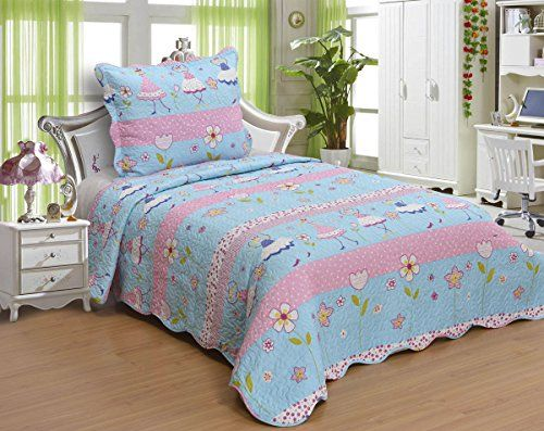 Kids' Boys and Girls Twin Size Polyester Double Sides 2pcs ... : twin size quilts and coverlets - Adamdwight.com