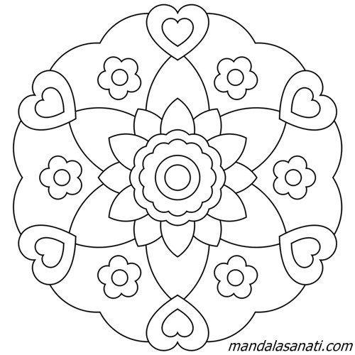 çocuklar Için Mandala Zihinsel Gelişim σχεδια πιπιτςα Mandala