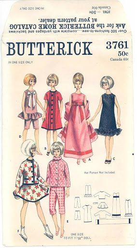 Free Copy of Pattern - Butterick 3761: | Barbie | Pinterest ...