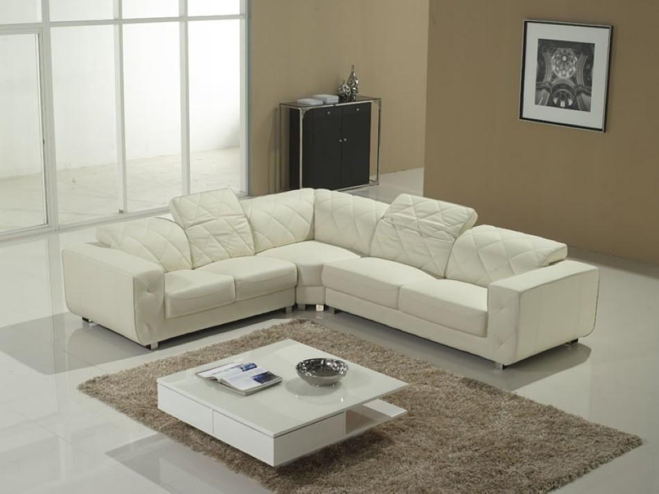 Amazing Design White Sectional Sofa V