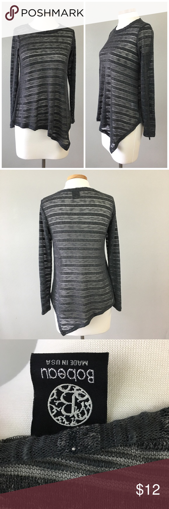 Bobeau Burnout Asymmetrical Pullover Sweater Top Bobeau Burnout Asymmetrical Pullover Sweater Top. Size XS with slight oversized fit. Thank you for looking at my listing. Please feel free to comment with any questions (no trades/modeling).  •Fabric: Polyester Blend  •Condition: very good, no holes or stains.   ✨Bundle and save!✨10% off 2 items, 20% off 3 items & 30% off 5+ items! KA bobeau Sweaters Crew & Scoop Necks