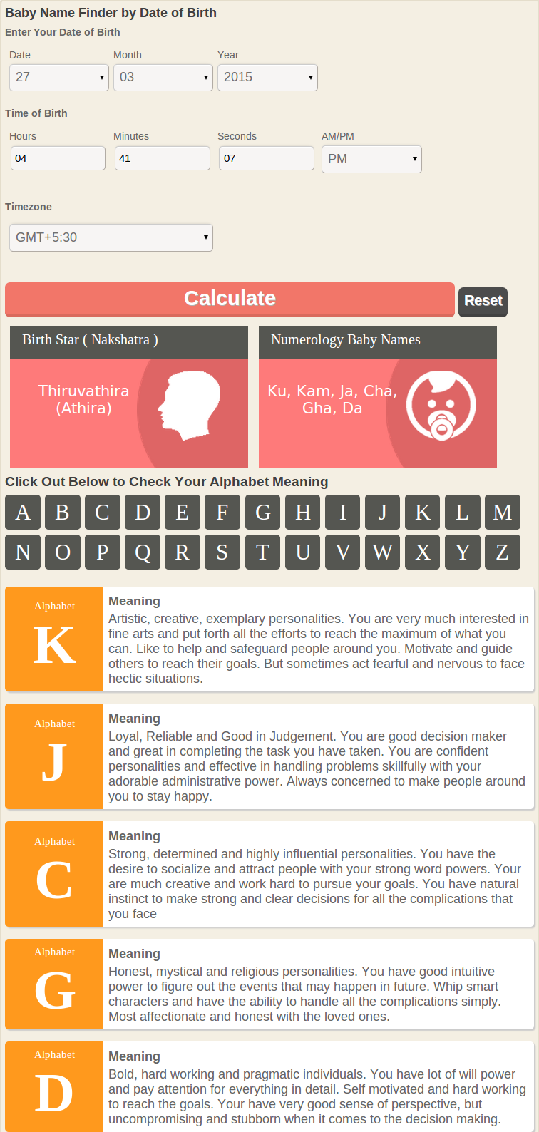 Check out names for your baby based on numerology with