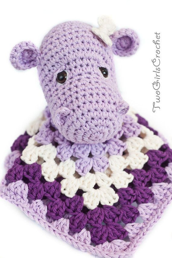 Check out this shop...they make great stuff that would make great gifts!  Hippo Crochet Security Blanket  Hippo Lovey  by TwoGirlsCrochet, $15.95 #crochetsecurityblanket Check out this shop...they make great stuff that would make great gifts!  Hippo Crochet Security Blanket  Hippo Lovey  by TwoGirlsCrochet, $15.95 #crochetsecurityblanket