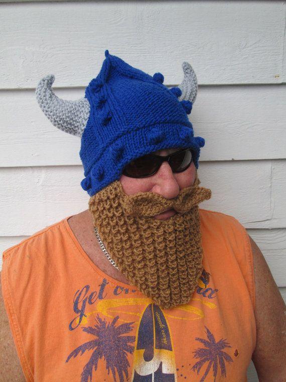 Viking beard hat Long beard Beard hat Beard Beanie by Ritaknitsall ... 9d3d75e2b3