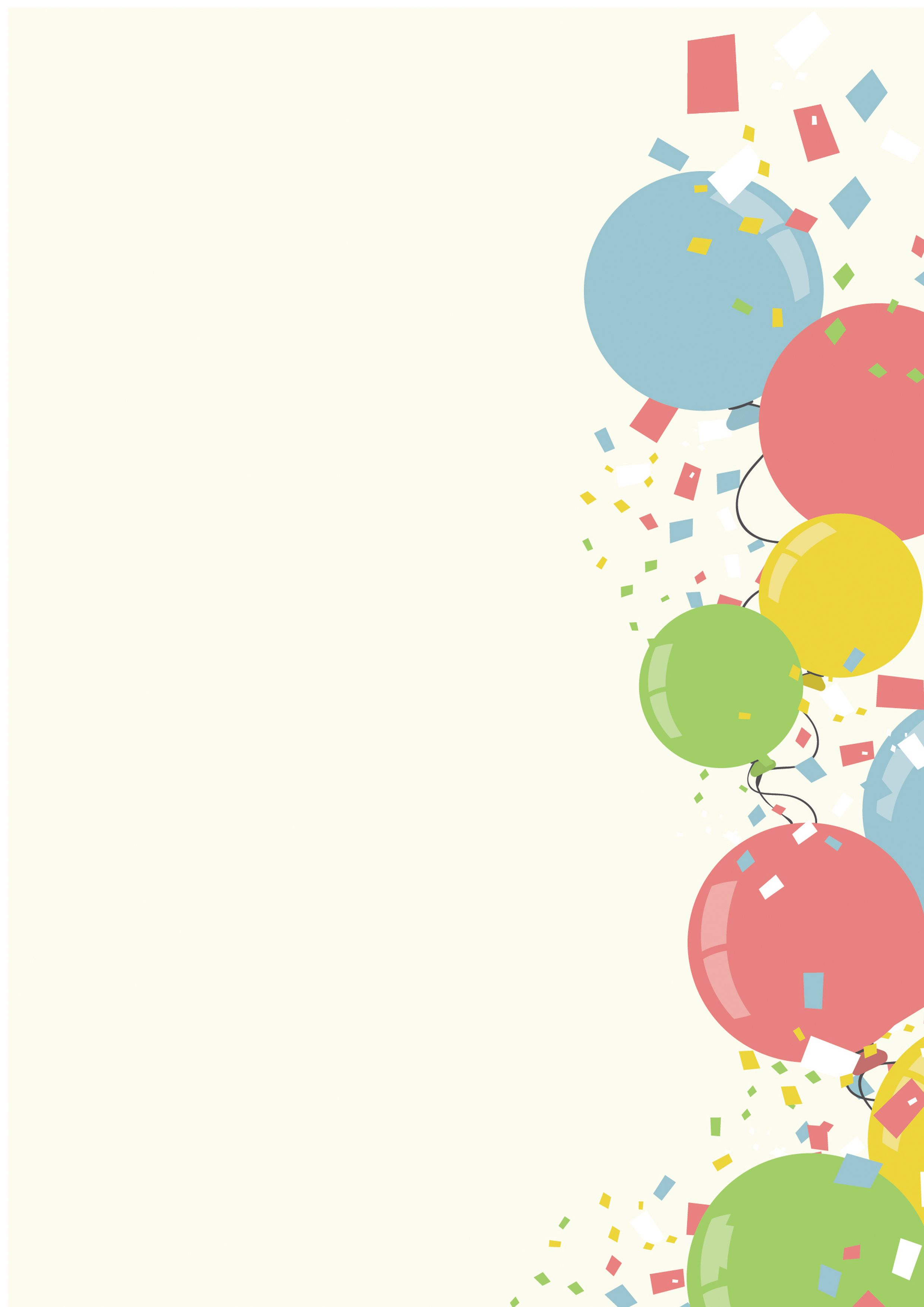 Confetti Cartoon Design Colorful Background Newspaper Collage Colorful Backgrounds Happy Birthday Wallpaper