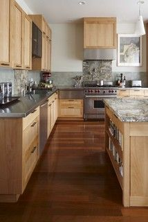 Cabinet Color Houzz Alder Wood With A Clear Finish Eclectic