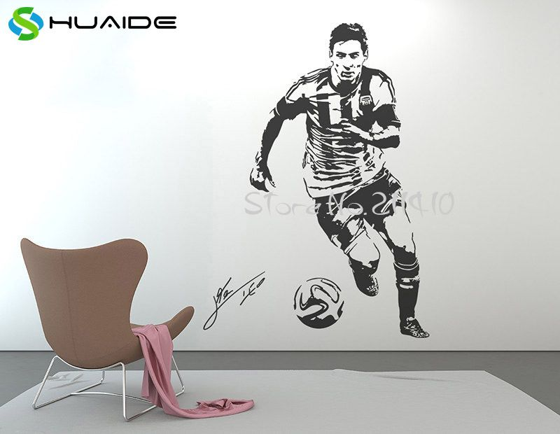 3d Poster Large Wall Decal Sticker Football Player Star Stickers Muraux Vinilos Paredes Sport Soccer Sports Wall Decals Wall Stickers Sports Sports Wall Decor