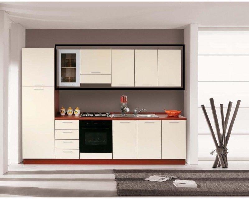 Pensili mobili cucina componibile ciliegio o ciliegio/panna ...