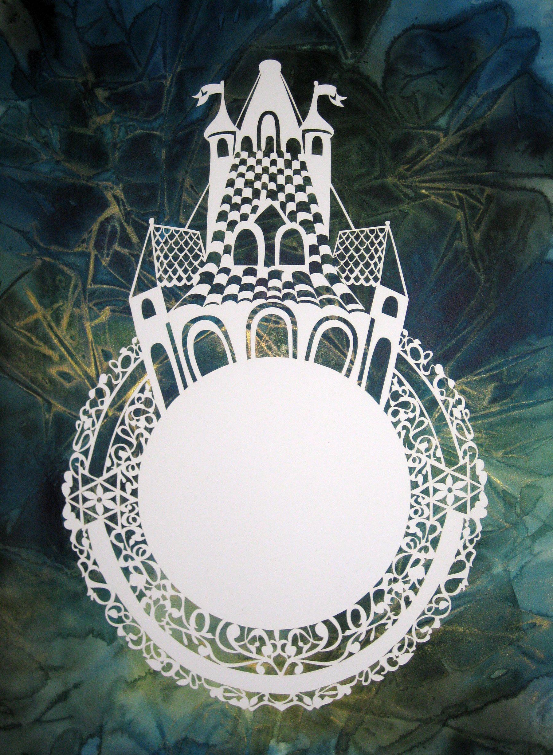 K182 Ceremonial Wedding Ring Laser Ketubah Judaic Art