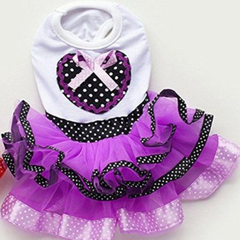 Tutu Vestido de Princesa Falda de Ropa Para Mascotas Perro Puppy ...