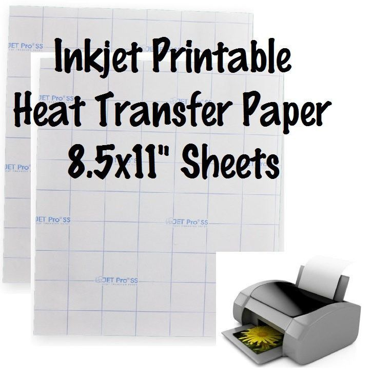 This is a photo of Printable Heat Transfer Vinyl for Inkjet with shirt