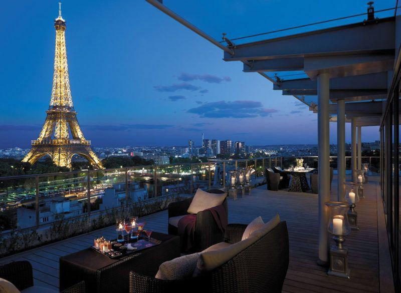 Paris rooftop group