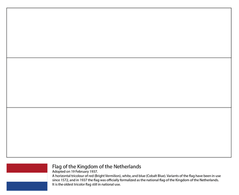 Flag Of The Netherlands Coloring Page Netherlands Flag Flag Printable Flag Coloring Pages