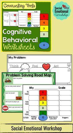 Social Emotional Workshop. Cognitive Behavioral Worksheets for ...