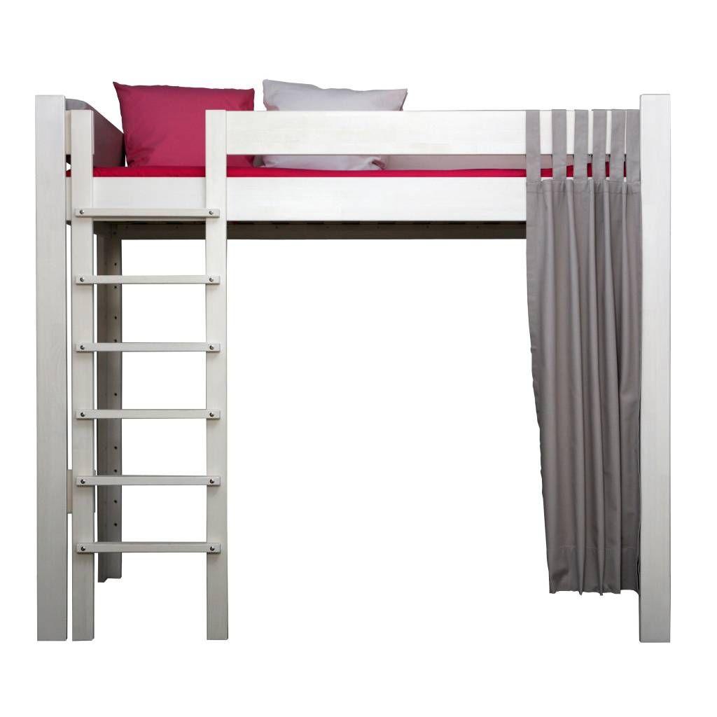 hochbett f r jugendliche buche massiv in natur ge lt oder wei bzw farbe gebeizt. Black Bedroom Furniture Sets. Home Design Ideas
