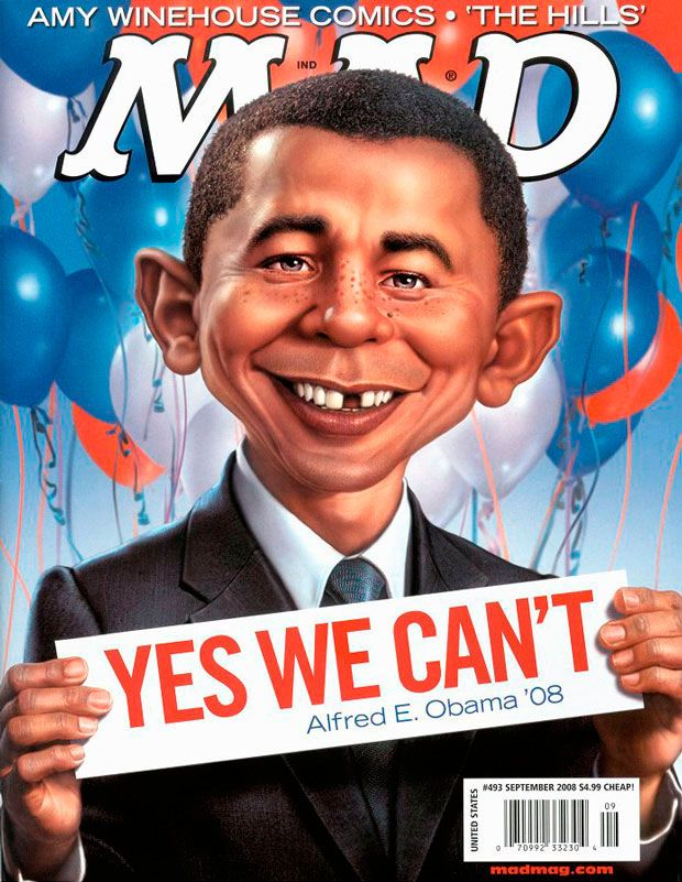 Mad Magazine September 2008. Yes We Can't. | Incredible ...