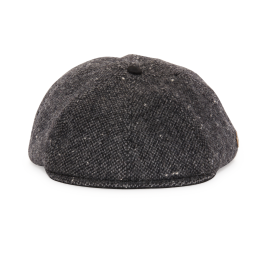 6437ac412be16 Sammy Charcoal Wool Gatsby hat front view