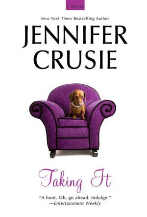 Faking It by Jennifer Crusie. Click on the cover to see if the book's available at Otis Library.