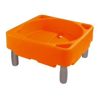 Wesco Large Water and Sand Container Orange - No Legs - 26707-007, Durable