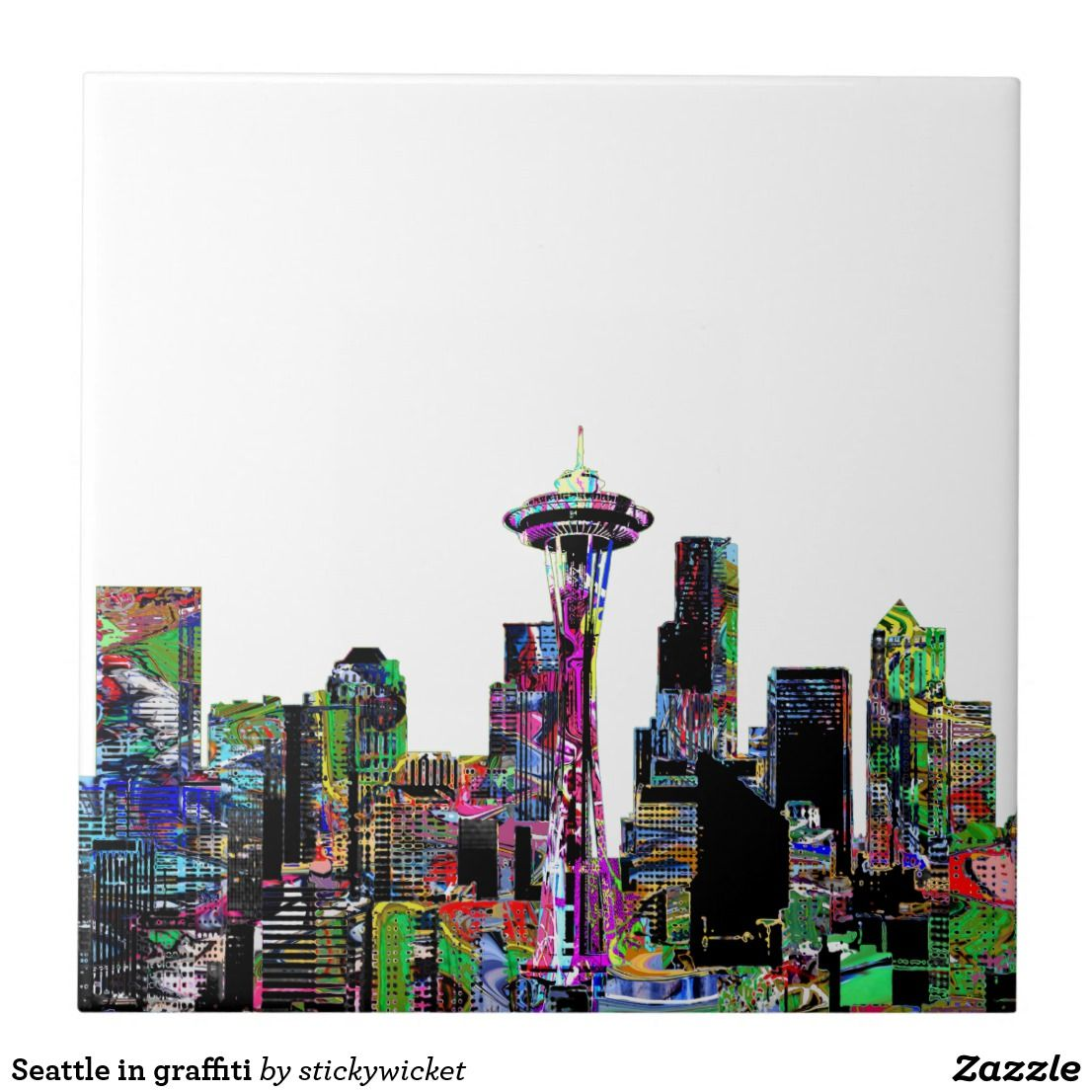 Seattle in graffiti ceramic tile seattle and bath seattle in graffiti ceramic tile dailygadgetfo Image collections