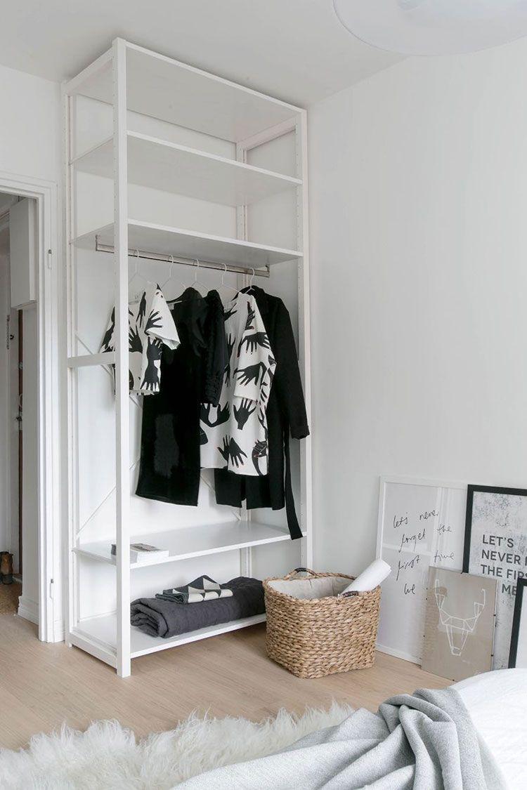 Mobili Cucina Senza Ante armadio aperto: 30 foto di piccole strutture senza ante (con