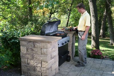 How to build bbq grilling station backyard outdoor for Outdoor cooking station ideas