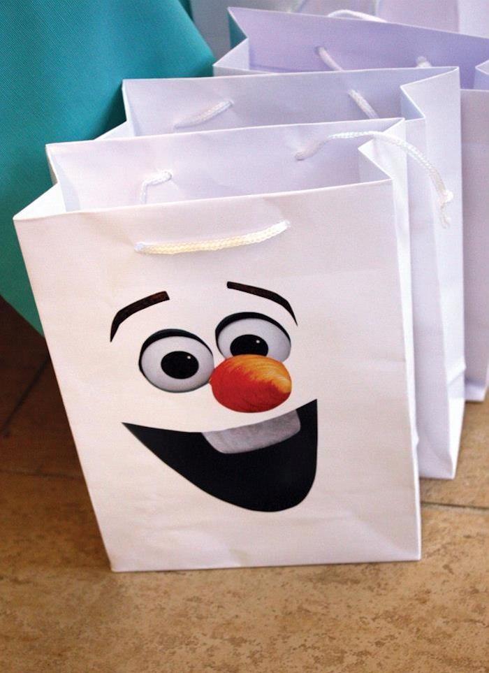 Reina de hielo regalo de papel 3er set Frozen-cumpleaños de papel papel de regalo