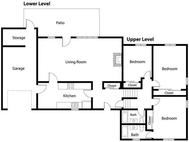 Ns Great Lakes Forrestal Village Community Duplex 3 Bedroom Home Floor Plan House Floor Plans Floor Plans 3 Bedroom Floor Plan
