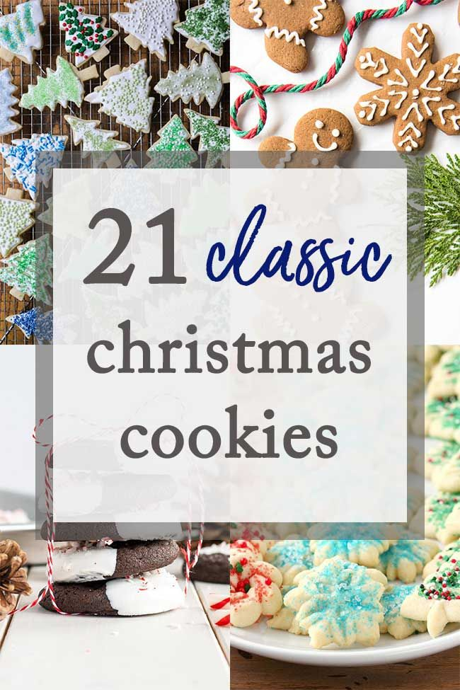 Classic Christmas Cookies 21 Classic Christmas Cookies for the holidays