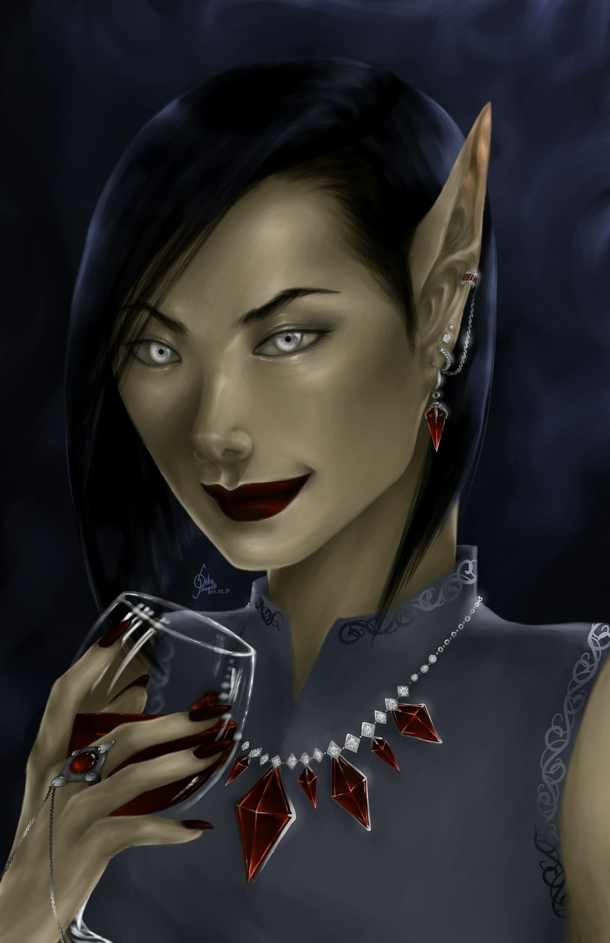 Fanart Of Amren From A Court Of Thorns And Roses Series By Sarah J