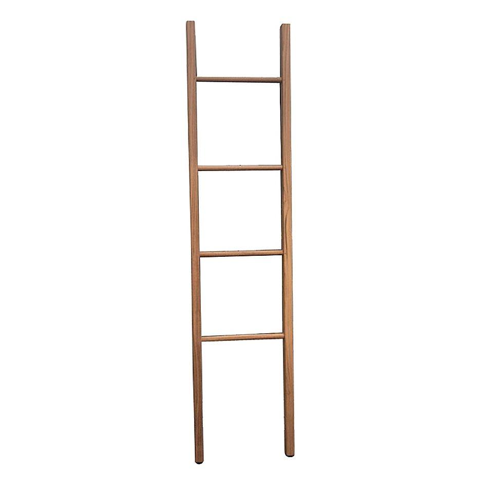 Haven Teak Ladder Towel Rack Natural In 2020 Ladder Towel Racks Bath Towel Racks Teak