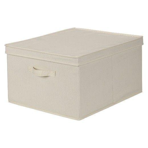 Decorative Boxes Storage Household Essentials® Jumbo Canvas Decorative Storage Box