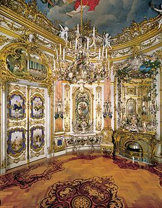 Porzellankabinett Herrenchiemsee Schloss Alte Architektur