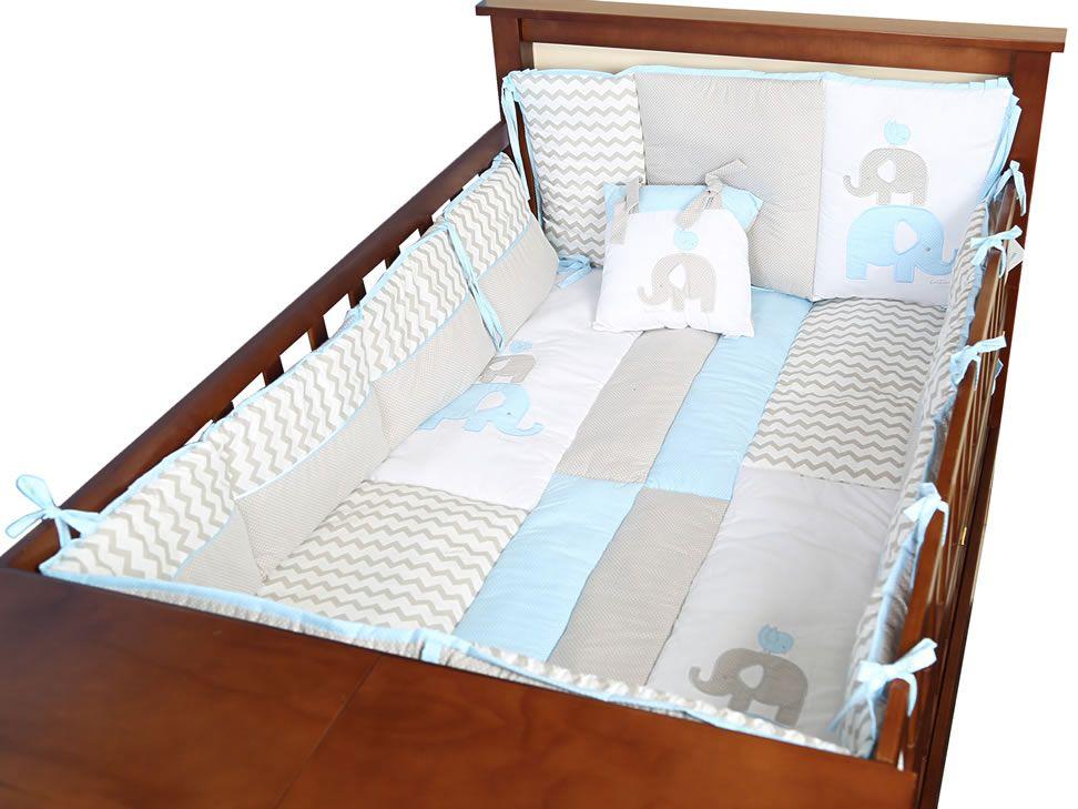 Juego de Cuna Kristian Azul Elefante | Baby room | Pinterest ...
