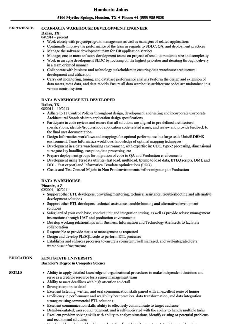 50++ Warehouse resume skills summary Resume Examples