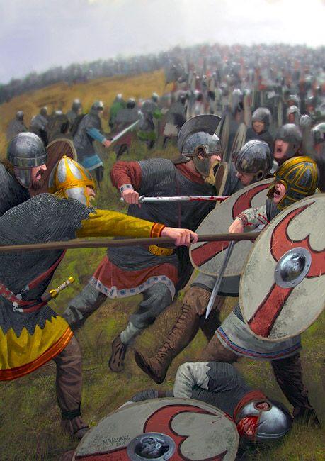 """Battle of Argentoratum, AD 357"", Milek Jakubiec"